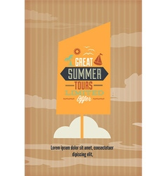 With typography and summer elements vector