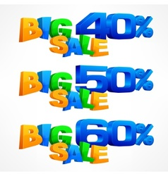 Big sale inscription percent vector