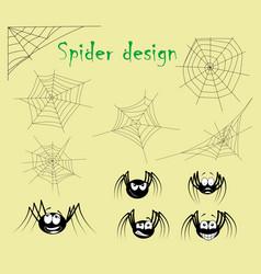 Spider web on white background vector