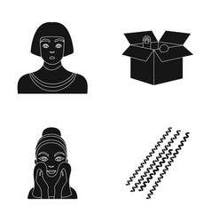 Egyptian box with animals and other web icon in vector