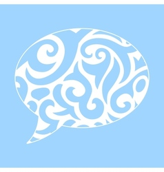 Abstract of ornamental speech bubble vector