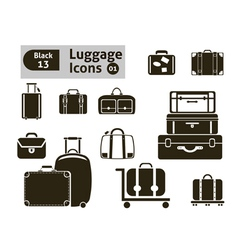 luggage icons vector image