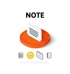 Note icon in different style vector