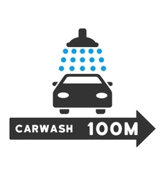Carwash Right Direction Flat vector image