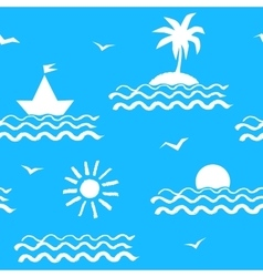 Seaside vacation seamless pattern vector image
