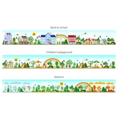 Header set in flat style vector