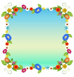 A floral empty template vector image