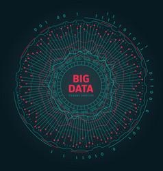 Abstract 3d big data visualization futuristic vector