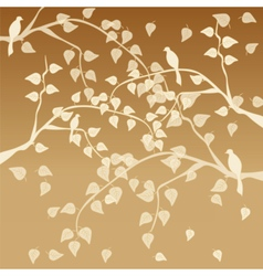 Autumn tree with leaves vector