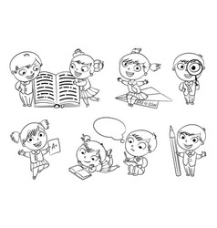 back to school coloring book vector image