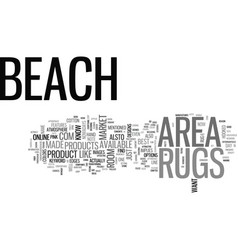 Beach area rugs text word cloud concept vector
