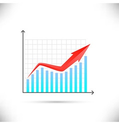 Business graph showing growth concept vector