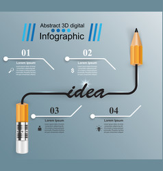 business infographics pencil icon idea vector image vector image