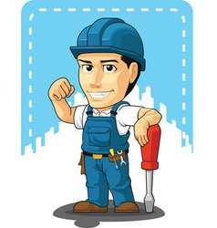 Cartoon of technician or repairman vector