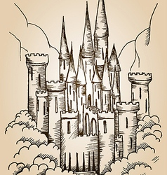 castle card vector image