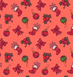 Christmas pattern red vector