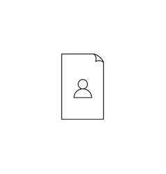 contacts file icon vector image