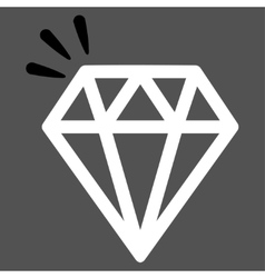 Crystal Icon from Commerce Set vector image vector image