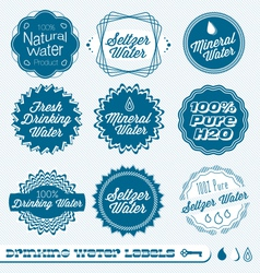 Drinking Water Labels vector image vector image