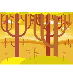 fantasy autumn landscape vector image