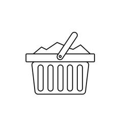 full basket icon vector image