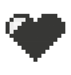 heart pixel love icon vector image vector image