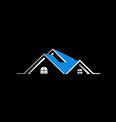 house realty sold roof logo vector image