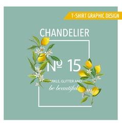 Lemon fruits graphic design t-shirt fashion prints vector