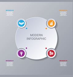 modern infographic numbered 4 options vector image vector image