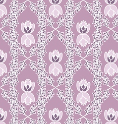 plant pink seamless pattern vector image