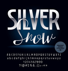 Silver exclusive set of alphabet letters vector