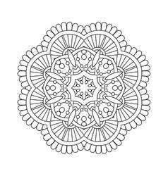 simple floral mandala vector image