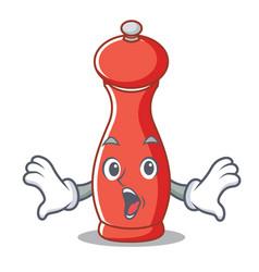 Surprised pepper mill character cartoon vector