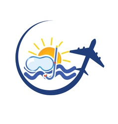 travel icon color vector image vector image