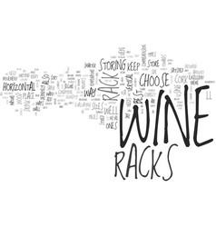 Wine racks text word cloud concept vector