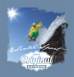 Winter sport original extreme vector