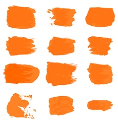 Brush stroke paint abstract white background set vector