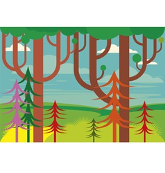 Fantasy forest vector