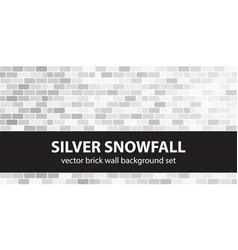 brick pattern set silver snowfall brick wall vector image