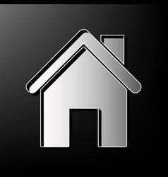 Home silhouette gray 3d vector