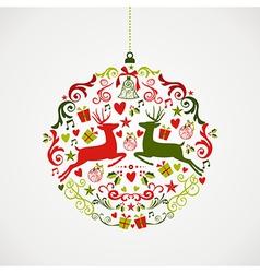 Vintage Christmas elements bauble design EPS10 vector image