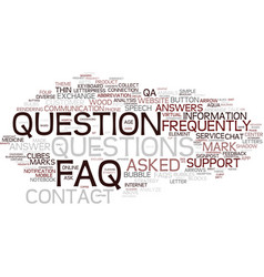 Faq word cloud concept vector