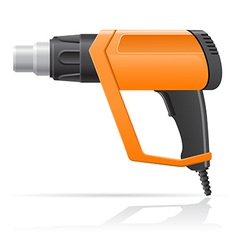 Electric hot air dryer gun vector