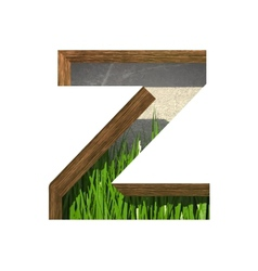 Grass cutted figure z paste to any background vector