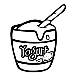 Yogurt bw vector