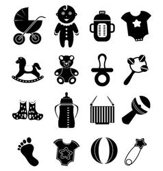 Baby toy icons set vector