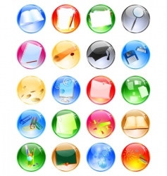 Education balls vector