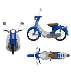 A motorcycle vector