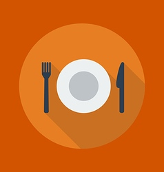 Travel flat icon restaurant vector