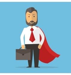 Businessman superhero concept cartoon vector image